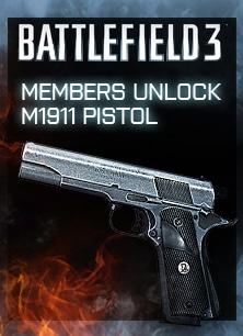 Erhalte die M1911 Pistole für deine Anmeldung beim EA GunClub