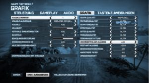 Battlefield 3 Grafikeinstellungen