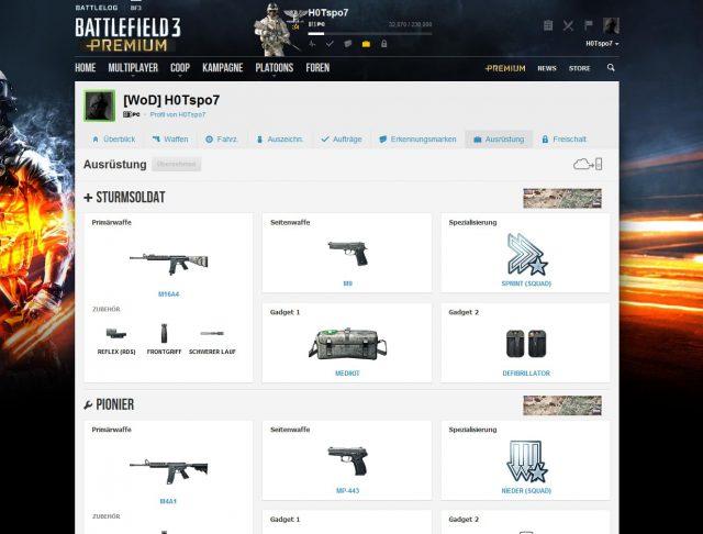 new battlelog feature loadout 640x486 Neues Battlelog Feature: Ausrüstung jetzt vor dem Spielen anpassbar