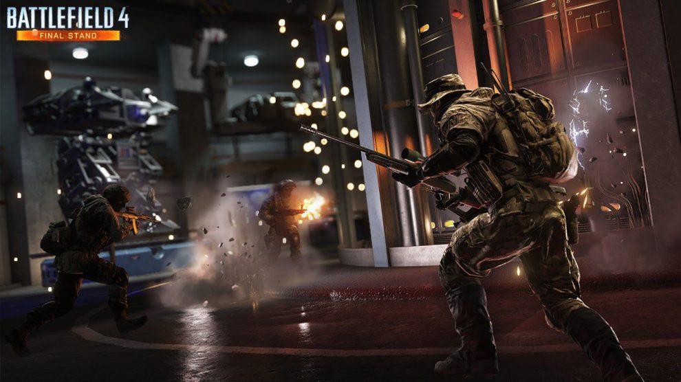 Battlefield 2142 wirft lange Schatten in der Waffenfabrik.