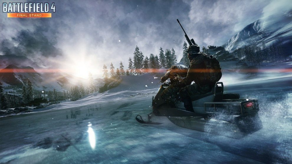 Rase mit dem neuen Schneemobil über das schneebedeckte Battlefield.