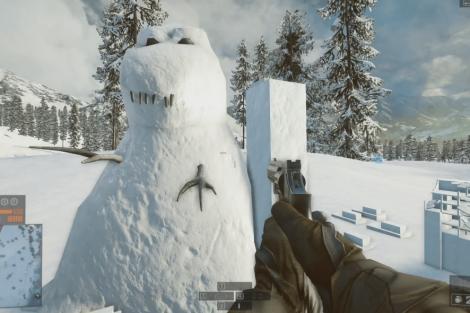 Ein Schnee-Dino