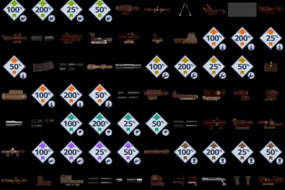Boosts und Waffenaufsätze