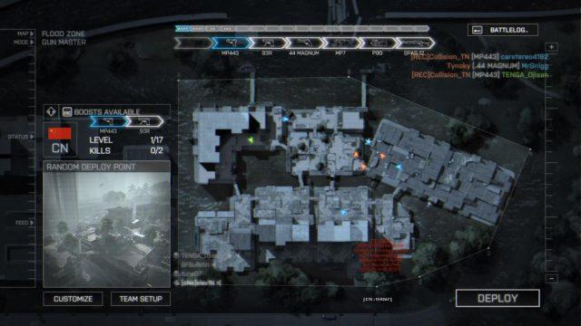 Das Bild zeigt euch das Overlay des Gunmaster Spielmodus in Battlefield 4