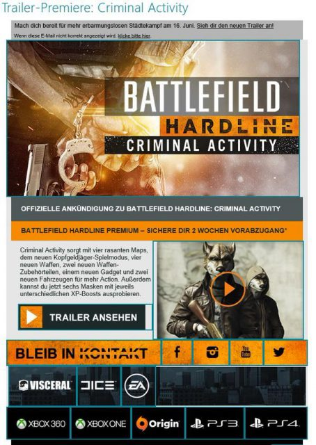 Battlefield Hardline-Criminal Activity-Releasedate