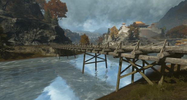 Die Brücken auf Dragon Valley können wie damals zerstört und repariert werden.