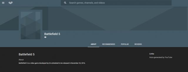 Youtube Gaming-Division nennt mögliches Releasedatum für Battlefield 5