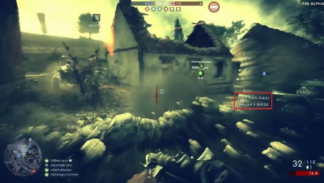 Gasangriff in Battlefield 1 - 5 Sekunden im Gasangriff verursachen etwa 25% Schaden.