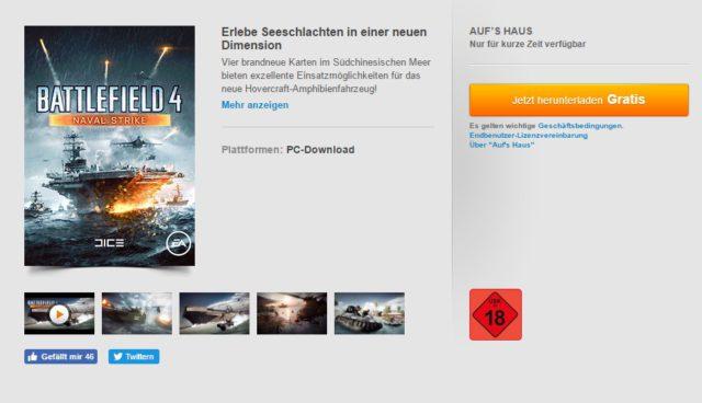 Battlefield 4 Naval Strike gratis