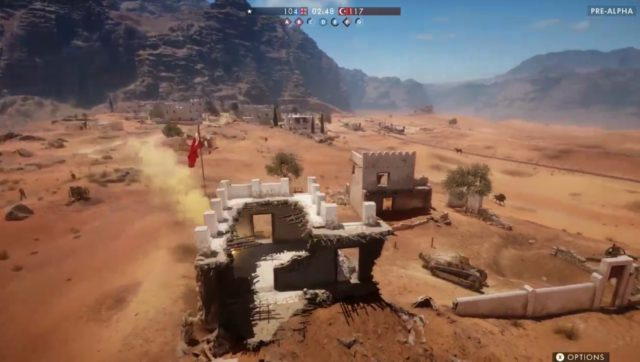 Die Wüste von Sinai ist eine große Wüstenmap mit einem Dorf in der Mitte, in dem es hitzige Infanterie Gefechte gibt.