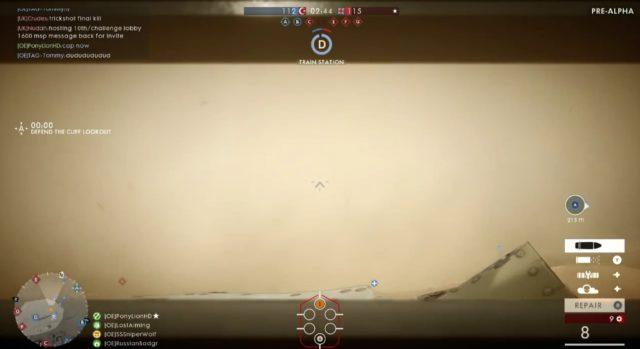 Der Sandsturm behindert die Sicht extrem. Der Effekt lässt aber recht schnell nach 1-2 Minuten nach.