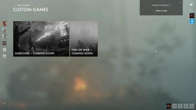 Hardcore und Fog of War Preset kommen bald!