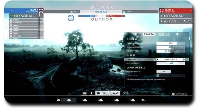Der neue Battlefield 1 Spectator-Modus mit allerhand neuer Funktionen und Features.