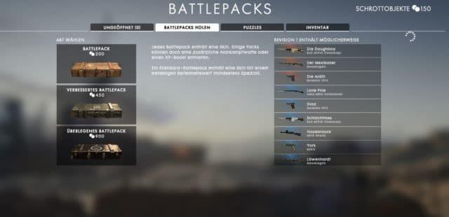 Kosten der der Battlepacks