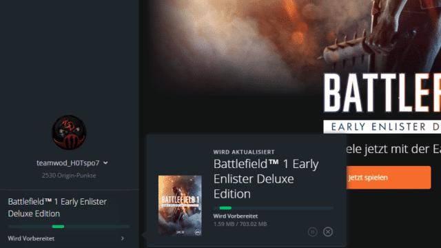 Erster Patch für Battlefield 1 erschienen.