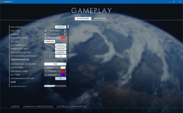 Battlefield 1 Gameplay Einstellungen (Einfach)