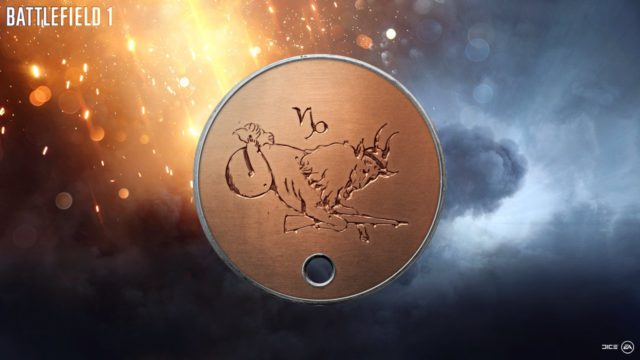 Battlefield 1 Capricorn Dog Tag