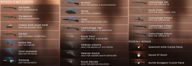 Battlefield 1 Battlepack Revision 13