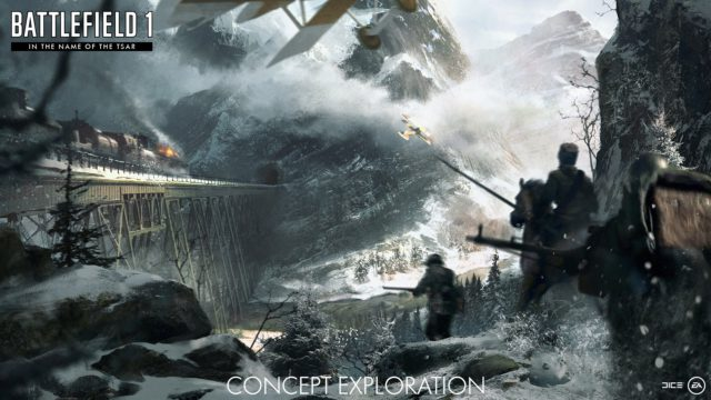 "Concept Art der Battlefield 1 Erweiterung ""In the Name of the Tsar"""