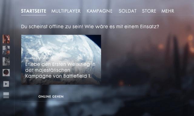 Battlefield 1 sowie Call of Duty sind online derzeit nicht verfügbar.