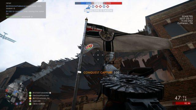 Wenn dein Platoon die meiste Arbeit beim Flaggen einnehmen übernommen hat, ist das Bild des Platoons auf der Flagge sichtbar.