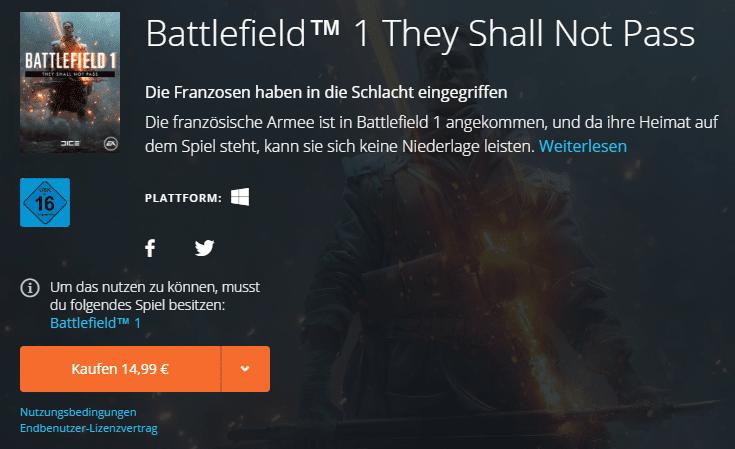 Battlefield 1 - Bald mit Premium-Freunde Feature