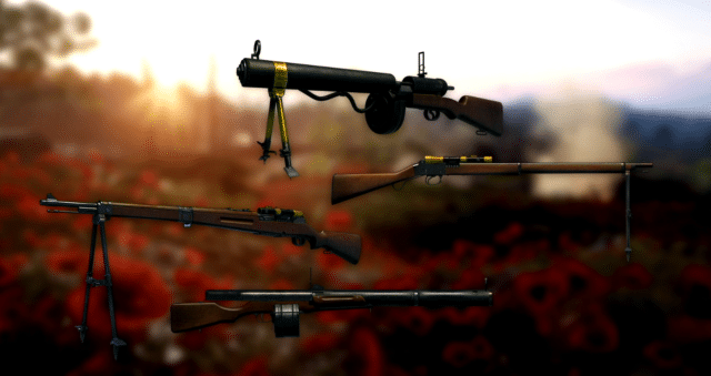 Battlefield 1: Spring Update - 4 neue Waffenvarianten