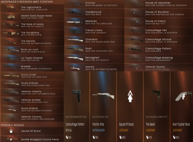 Battlefield 1 JackFrags Battlepack Revision