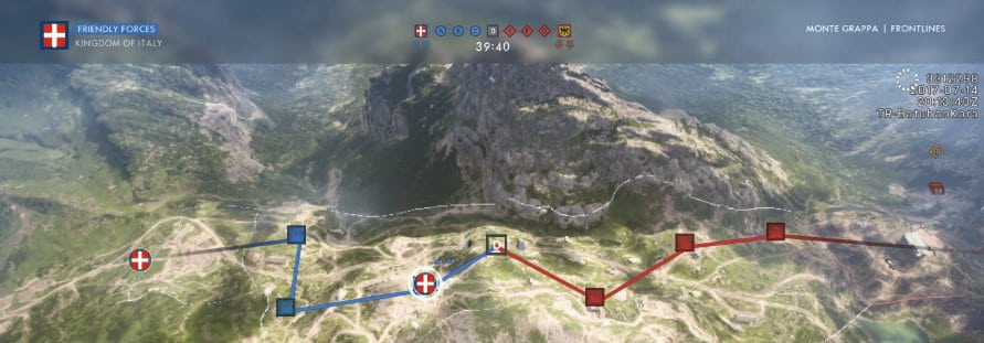 Frontlines Layout @ Monte Grappa
