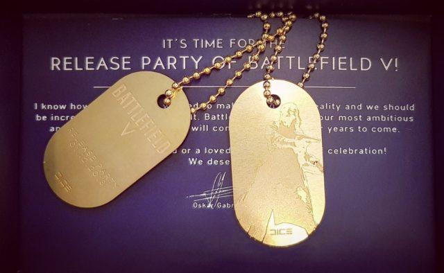 Einladung zur Battlefield V Release Party mit speziellem Dogtag