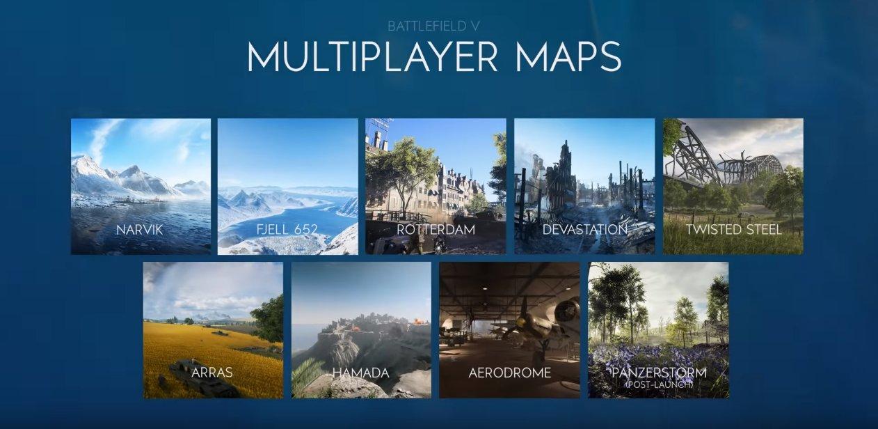 battlefield v launch maps