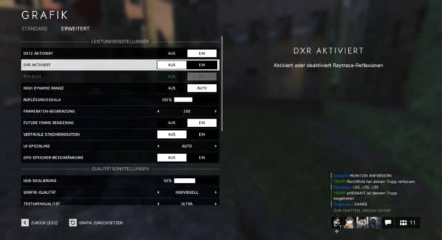 DXR Option in Battlefield V