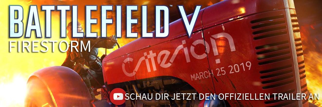 Schau dir den offiziellen Battlefield V Firestorm Trailer an!