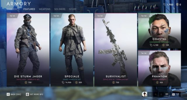 Neue Inhalte im Battlefield V Store