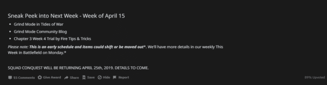 Der Battefield V Squad Conquest Spielmodus wird am 25. April wieder spielbar sein.