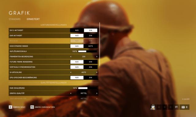 Battlefield V Grafikoptionen
