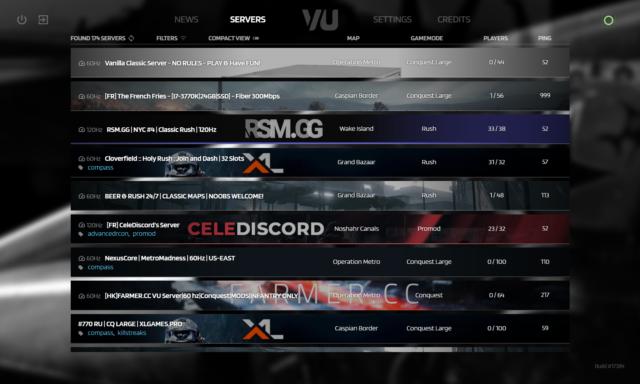 Battlefield 3 Venice Unleashed - Serverbrowser